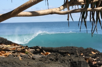 boulders samoa, boulders, coconuts, samoa waves